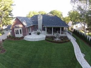 Custom Home Builders Madison Heights MI | Galaxy Contracting - backyard-drone-view